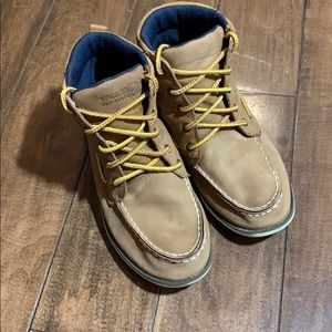 Boys Sperry's tan boots